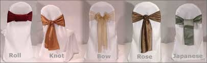 chair sash ties organza chair sash