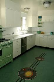 retro midcentury kitchen los angeles by crogan inlay floors
