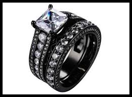 black weddings rings images Black engagement rings for her cheap 2018 elegant weddings jpg