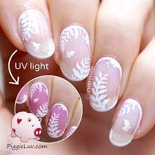 piggieluv bridal negative space nail art