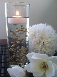 water centerpieces floating pearls floating jumbo pearls centerpiece wedding