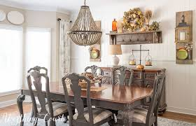 Farm Style Dining Room Sets - fall in my farmhouse dining room worthing court