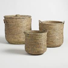 Container Store Laundry Hamper by Baskets Decorative Storage U0026 Wicker Weave Baskets World Market