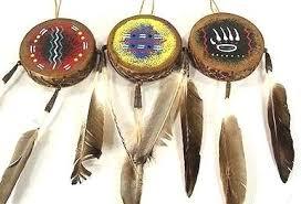 made mini navajo drum southwest ornament ftdrm15