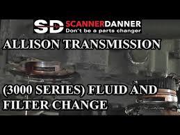 allison transmission 3000 series fluid and filter change 2001