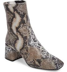 womens boots topshop topshop s max snake embossed bootie heard white