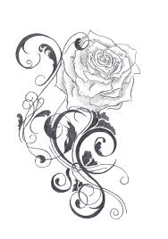 black and white flower tattoo designs free download clip art