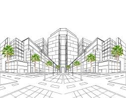 how to draw building plans perspective drawing plan for building site construction and