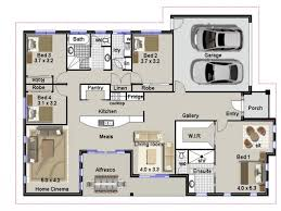 100 4 bedroom flat floor plan apartment designs shown with