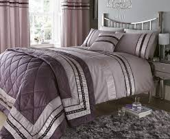 Diamante Bedroom Set Luxury Diamante Designer Double Bed Duvet Quilt Cover Bedding Set