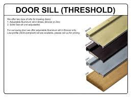 Exterior Door Sills Homeofficedecoration Exterior Door Sills