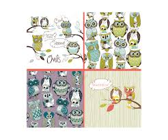 Cute Owls Vectors Pack Cartoon Owl Vectors Greeting Card