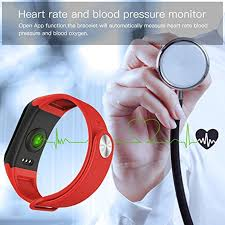 blood pressure bracelet iphone images 2pcs f1 smart band blood oxygen tracker blood pressure fitness jpg