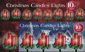 amazon com 10 piece christmas candle pathway light set