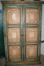 Painted Armoire Furniture Vintage Armoire Polychrome