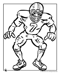 Football Player Coloring Page Woo Jr Kids Activities Football Coloring Page