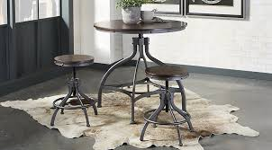 industry place cherry 3 pc dining set dining room sets dark wood