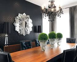 black and white dining room ideas tone on tone wallcovering in black charcoal grey reads