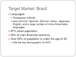 What Does A Resume Include International Marketing Kfc