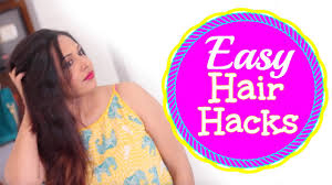 hair hacks for long hair lazy hair hacks youtube