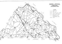 County Map Of Missouri Perry Co Cemeteries