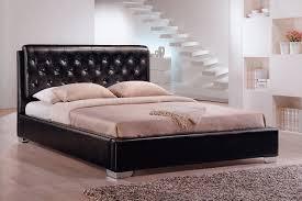 King Bedframe Use Queen Mattresses On King Tufted Bed Frame Modern King Beds
