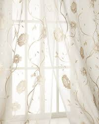 White Sheer Shower Curtain Designer Curtains Sheer U0026 Lace Curtains At Neiman Marcus Horchow