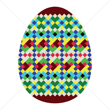 geometrical easter egg patterns vector image 1323219