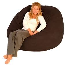 comfort research fufsack chocolate brown polyester bean bag chair