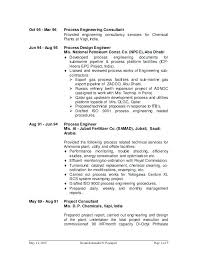 sample resume for oil and gas industry targeted resume samples