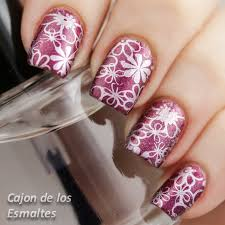imagenes de uñas decoradas con konad sting plate konad m100 y qa65 bornpretty store flowers