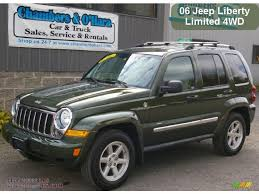 2006 green jeep liberty 2006 jeep liberty limited 4x4 in jeep green metallic photo 2