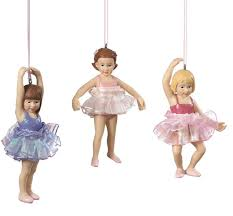 ballerina ornament set of 3