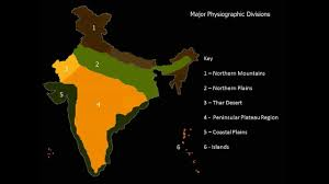 India Physical Map by Physical Features Of India Youtube