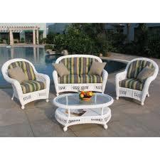 White Wicker Patio Furniture - white wicker porch furniture decorations
