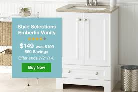 Style Selections Bathroom Vanity by Lowes Your New Vanity Now 50 Less Milled