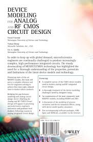 buy device modeling for analog and rf cmos circuit design book