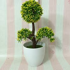 3 pcs plastic leaf orchid flower plant props wedding gift bonsai