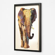 selling modern animal elephant high quality oil painting with