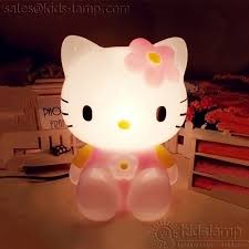 elegant hello kitty kids table lamp with night lights kids lamp com
