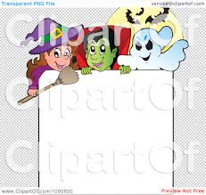 halloween frames transparent background clipart halloween witch vampire and ghost frame royalty free