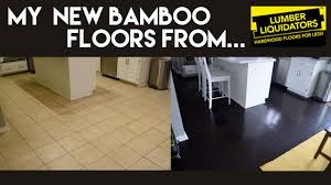 Bamboo Floor Cleaning Products My New Dark Bamboo Floors From Lumber Liquidators Youtube
