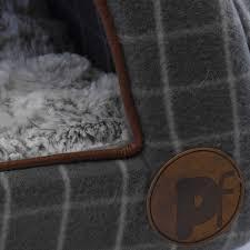 Are Igloo Dog Houses Warm Petface Cat Igloo Window Pane Check Soft Fleece Kitten Bedding