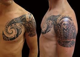 tattoo tribal chest trevor kennedy certified artist