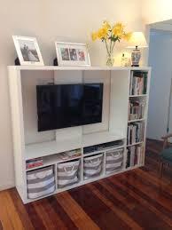 ikea tv unit ikea lapland tv unit with books and storage baskets me