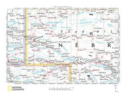 Nebraska Usa Map by Snake Creek North Platte River Drainage Divide Area Landform