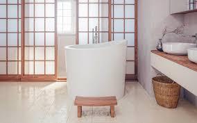 Bathtubs Aquatica True Ofuro Mini Freestanding Stone Japanese Soaking Bathtub