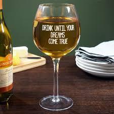 glass of wine big huge wine glass