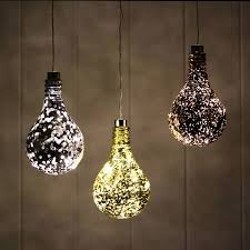 hanging mirrored metallic light bulb light by nest