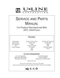 download free pdf for u line origins co29 refrigerator manual